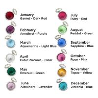 Personalised 60th Birthday Birthstone Necklace - Gift Boxed & Free Delivery UK